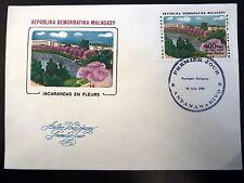 MADAGASCAR  AERIEN 186   PREMIER JOUR FDC   JACARANDAS EN FLEURS   400 FMG  1982