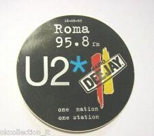 ADESIVO RADIO / Sticker Autocollant _ RADIO DEEJAY CONCERTO U2 BONO VOX (cm 10)