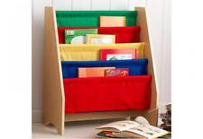 Bibliothèque pour chambre d'enfant fille garcon etagere toile souple rouge 14226