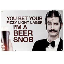 Beer Snob Metal Sign - Funny Home Bar Pub Man Cave Beer Geek Drinking Decor Gift