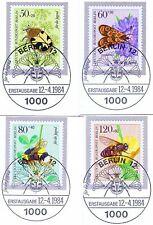 Berlin 1984: Bestäuberinsekten! Jugend Nr. 712-715 mit Ersttagsstempeln! 1A 1807