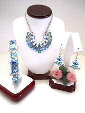 "Brighton ""CASABLANCA GARDEN"" Necklace-Earring-Bracelet Set (MSR$188) NWT/Pouch"