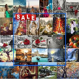 Painting By Numbers Kit DIY Multi-styles Canvas Oil Wall Art Picture Wall Decor
