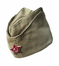 Genuine Russian Soviet USSR Red Army WW2 Military Uniform Pilotka Hat Cap Badge