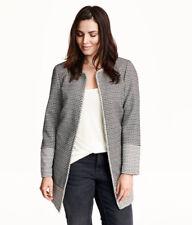 NEU H&M Kurzmantel Mantel Jacke Trenchcoat Gr.48,50 schwarz-weiß zu Kleid Jeans