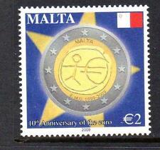 MALTA MNH 2009 SG1619 10TH ANNIVERSARY OF THE EURO