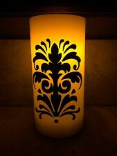 """Vinyl Damask Sticker • """"Dress Up A Candle!"""" • Decorate A Candle • Battery Candle"""