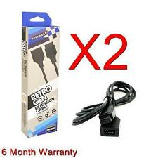 2X Controller extension cable Sega Genesis 6 Feet (Retro-Bit) (6 Month Warranty)