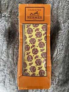 Hermès Hermes Cravates Designer Silk Tie VINTAGE! 80's NEW!!