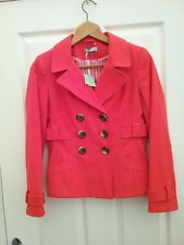 TU Petite Womens REd Double Breasted Blazer Jacket Size 8 Petite New