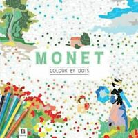 NEW Monet - Colour By Dots - Hinkler Colouring Book ADULTS KIDS