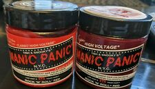 Rock 'N' Roll Red Manic Panic Semi Permanent Hair Dye Color Cream 4oz (2 pack)