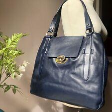 FURLA Large Deep Blue Leather Shoulder/Handbag