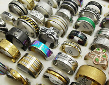 Wholesale 50pcs Mix lot stainless steel Ring alloy Rings Men Women Jewelry