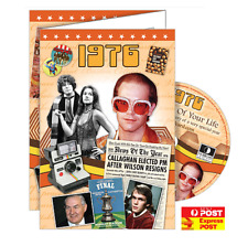 1976 Year Of Birth Birthday Greeting Card with DVD - The Time of Your Life