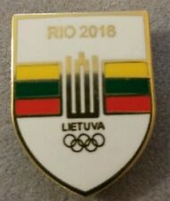 Olympic Games RIO 2016 dated hat lapel pin - LITHUANIA NOC