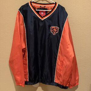 Vintage Chicago Bears Windbreaker/Pullover G-III NFL Label XXL Pockets Fields