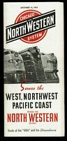 ⫸ 536 Chicago North Western Public Timetable December 14 1947 Overland Railroad