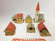 AS12-2# 6x Faller H0 Edificios: Iglesia+Capilla+EFH/Casa familiar+Restaurante