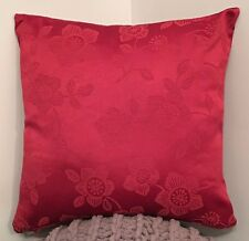 Pack Of 4 16 X 16 Inch Cushion Covers RED With Bouqet Floral 50% OFF
