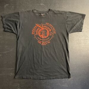 Vintage Indian Motorcycle Museum Springfield MA Black Red Tee Shirt Size Large