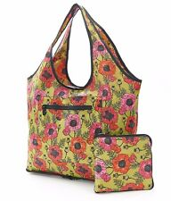 Expandable Weekend Bag by Eco Chic slips over suitcase holds 15kg Poppies