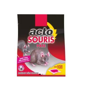 5 X 10G SOIT 50G PÂTES APPÂTS SOURIS à utiliser dans boîte appâtage ACTO