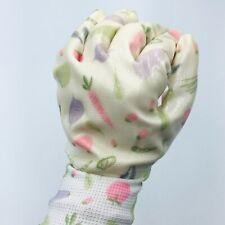 2 Pack Garden Gardner Gardening Gloves Yard Nitrile Wrist, Size M