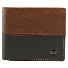 Wallet Genuine Leather  Brown/Black Bill Fold NEW!