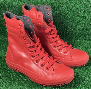 Converse Chuck Taylor Women's Hi-Rise Fashion Boot Rubber Red 549592C Size 7