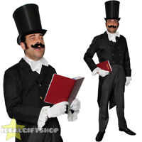 ADULTS DICKENSIAN CHRISTMAS CAROLLER COSTUME VICTORIAN MAN CHRISTMAS FANCY DRESS