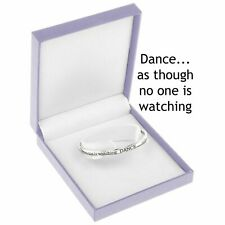Equilibrium Silver Plated Bangle Bracelet Jewellery Dance Watching Sentimental