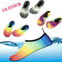 Women Men Water Shoes Pool Beach Shoes Water Swim Surf Skin Aqua Socks Beach NY