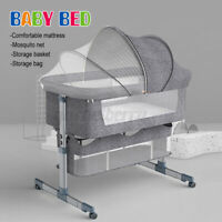 Portable Baby Bed Side Sleeper Infant Bassinet Crib Sleeping With Carrying Bag