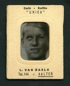 Belgian 1920s Lenticular BOY Makes FACES Animated WIGGLE  UNICA Ad VASTA Archive