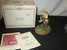 Norman Rockwell Figurine Bark If They Bite w/ Box & Coa Best Friends Dog (Y778)