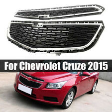 For Chevrolet Cruze 2015 Front Bumper Upper Grill Middle Lower Grille Black ABS