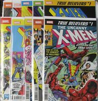 Marvel Comics True Believers X-Men Set of 10 books.
