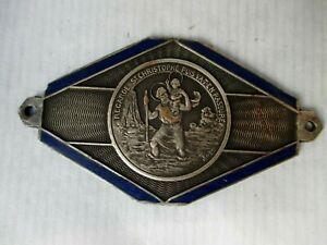 René PAPA  médaille déco mascotte badge auto ancienne SAINT CHRISTOPHE Emaillé