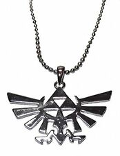 "Legend of Zelda Triforce Symbol Silvertone Pendant Necklace with 20"" Chain"