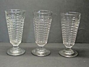 3.Stück Gläser - Formgeblasen - Biergläser - Weingläser - um 1900