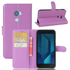 New Wallet Flip Leather Case Cover For HTC One X10 + Screen Protector