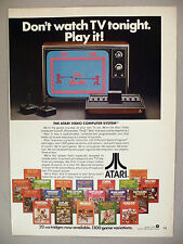 Atari Video Game PRINT AD - 1979 ~ Computer System Games