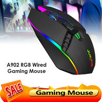 RGB Gaming Mouse 7-Color Breathing Backlit Wired Optical Mice for PC Laptop
