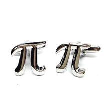 Pi Maths Symbol Cufflinks & Gift Pouch