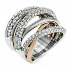 925 Silver Rings For Women Fashion White Sapphire Wedding Jewelry Size 6-10