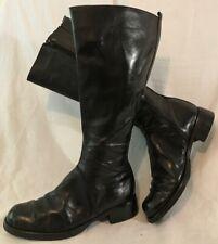 Boden Black Knee High Leather Lovely Boots Size 40 (490v)