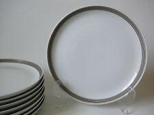 SCHÖNWALD Porzellan Kuchenteller weiß mit braunem Band  Ø 20 cm 60er 70er