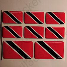 Pegatinas Trinidad y Tobago Pegatina Bandera Vinilo Adhesivo 3D Relieve Resina