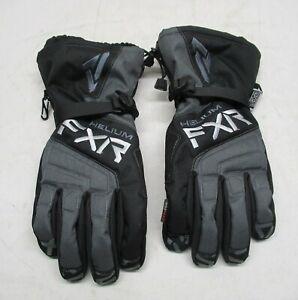 FXR (XL) Racing Black /Char Helium Gauntlet Gloves - 210804-1008-16